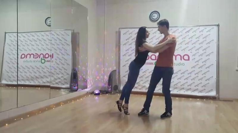 Анна Вит и Андрей Коротаев | Anna Vit Andrey Korotaev | Ipanema Dance Studio. Подготовка к Зук-лаборатории.