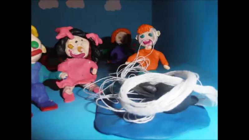 пластилиновый мультфильм мина