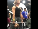 Кристен Дансмур, тяга 143 кг на 25 раз