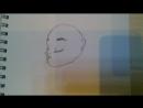 Девочка с причёской пуском!Учимся рисовать!