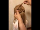Очень простая и красивая прическа - урок плетения