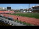 100 метров бежит Никита Панов и Асламин Анисимов Владислав Виталий №34