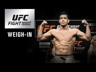 UFC Fight Night Belem: прямая трансляция церемонии взвешивания.