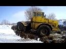 Открытие сенажной ямы и чистка дорог к яме К-700 А