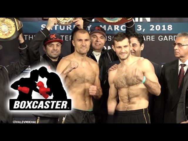 Official Weigh-In   Sergey Kovalev vs Igor Mikhalkin   WBO Light Heavyweight Title   HIGHLIGHTS  