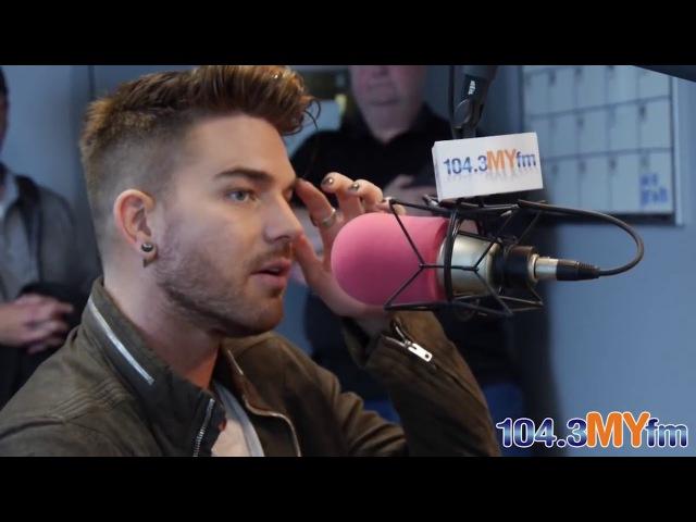 Adam Lambert Valentine In The Morning 104.3 MYfm 22.04.15 with russian subtitles (русские субтитры)