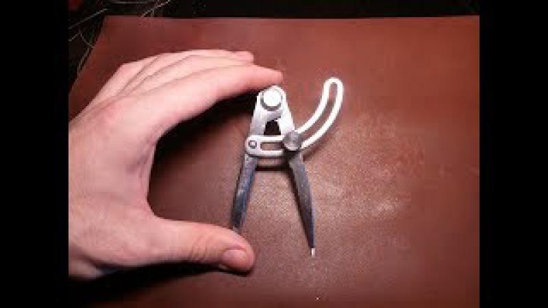 Распаковка кронциркуля, разметчика для работы с кожей. КДМ Булат.