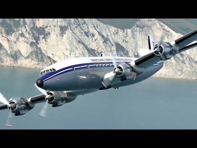 Flying on the Breitling Super Constellation