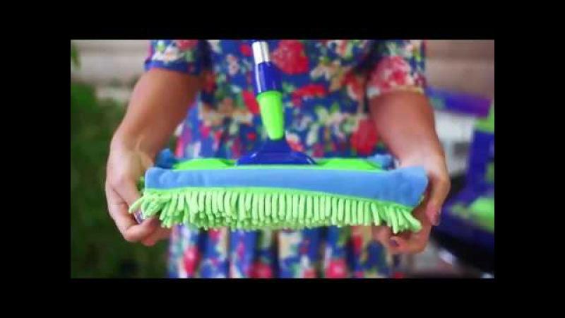 AquaMatic mop - Универсальная швабра с двумя насадками из микроволокна