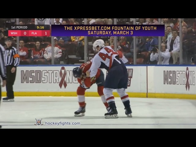 Brooks Orpik vs Derek MacKenzie Feb 22, 2018