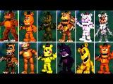Five Nights at Freddy's 6 FNAF 5 4 3 2 1 ALL FREDDY ANIMATRONICS FNAF 2018