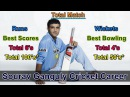 Sourav Ganguly Cricket Career Detail of ODI, T20, Test and IPL Prince of Calcutta