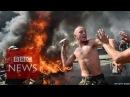 7 августа 2014. Киев. Ukraine: Kiev's Independence Square on fire - BBC News