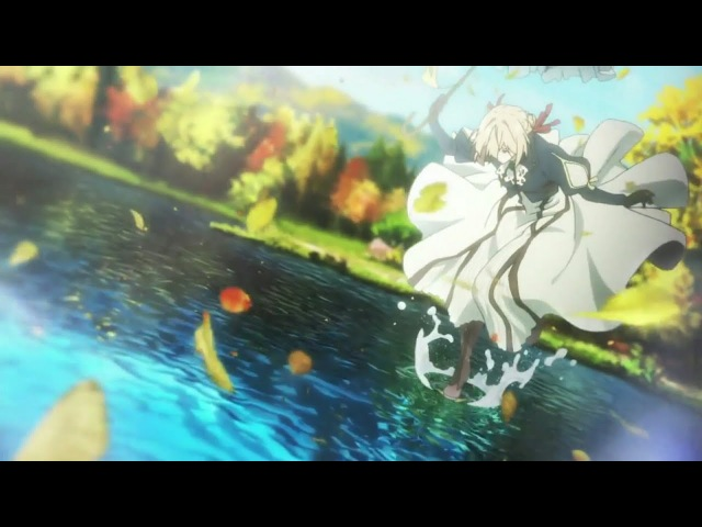 Violet Evergarden Episode 7 - Walk On The Leaves Floting Atop The Lake.