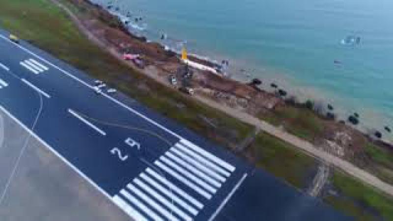Trabzonda Pistten Çıkan Uçak Havadan Görüntülendi Facianın Böylesi