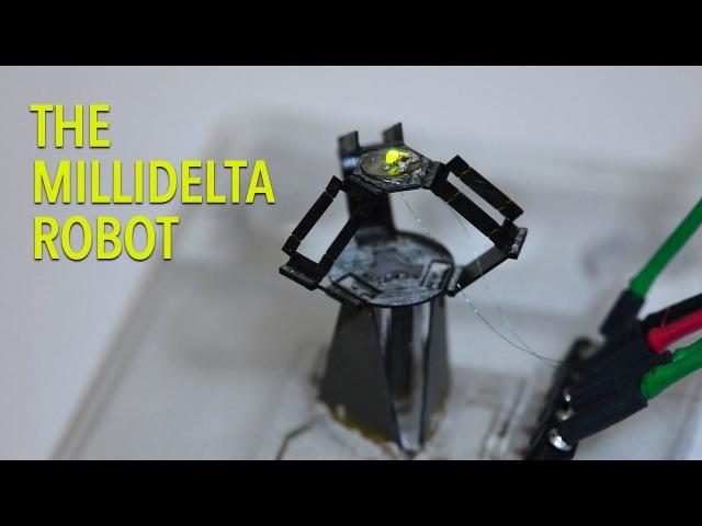 MilliDelta - быстрый и точный крошечный робот-манипулятор
