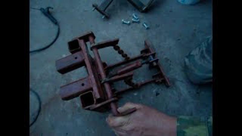 самодельная навеска для мини трактора (часть 2 )