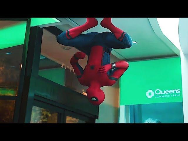 Homem-Aranha Lutando no Banco DUBLADO HD | Homem-Aranha: De Voltar ao Lar (2017)
