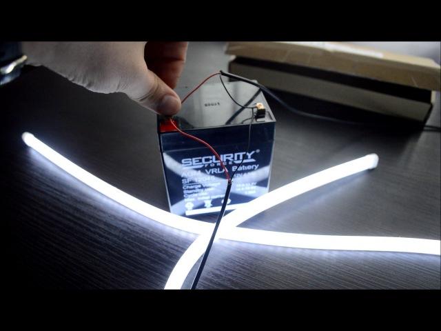 Гибкая светодиодная лента в фары с Aliexpress (ДХО)