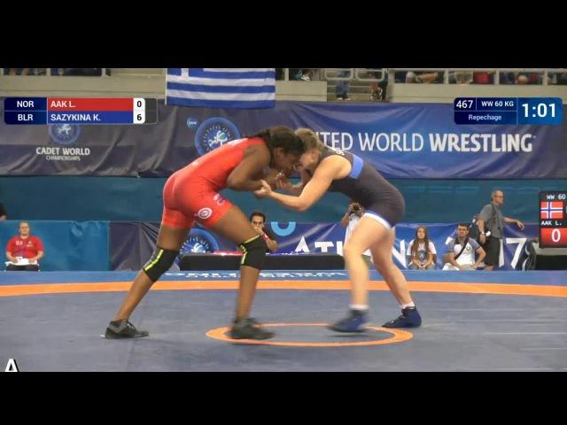 Кристина Сазыкина Беларусь vs Laura Sofia AAK NOR 60 kg