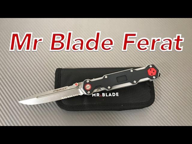 Mr Blade Ferat Knife steel frame linerlock with D2 blade