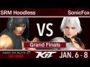 KIT17 - GXR | SRM Hoodless (Rig, Zack) vs Echo Fox | SonicFox (Christie) Grand Finals - DOA 5