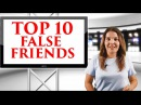 INGLÉS BÁSICO TOP 10 ENGLISH SPANISH FALSE FRIENDS