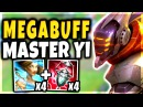NEW BROKEN MEGA-BUFF MASTER YI GOD STRATEGY!! 4 ARDENT CENSOR/WINDSPEAKER - League of Legends