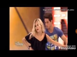 Soy Luna 3 момент из 10 серии - Симбар почти поцеловались, но им помешал Бенисио
