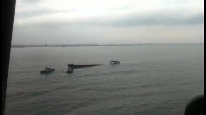 Операция по буксировке на мелководье турецкого сухогруза «Берг»
