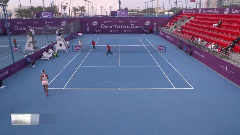 WTA Doha R2 2018 Bellis vs Keys