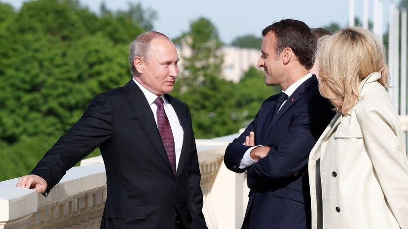 О чём говорили Владимир Путин и Эммануэль Макрон в Санкт-Петербурге
