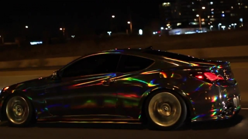 HOLOGRAPHIC CHROME CAR holographic chrome vinyl wrap By @CKWRAPS sts 17864 assets css yts cssbin player vflDka7M