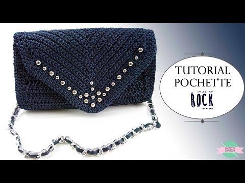 TUTORIAL CROCHET BAG   Pochette a punta ROCK   Uncinetto d'Argento