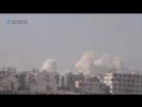 Сирия 13 01 18 ВВС САР нанесли авиаудары по бармалеям в г Хараста и г Ирбин всточная Гута