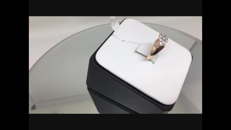 Кольцо золото 585 пробы с фианитами