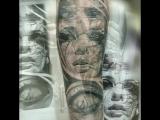 Москва - Подольск. Художественная татуировка. Перекрытие старых, некачественных татуировок, исправление.