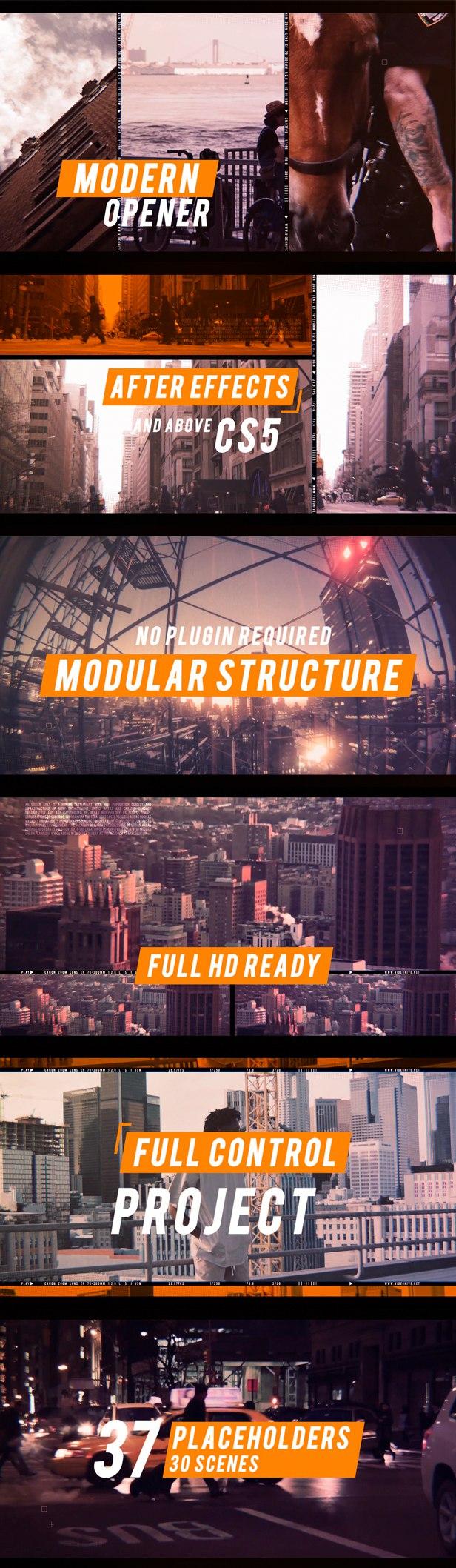 Urban Rhythm | Modern Opener 20836933 - Free After Effects Template