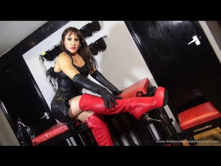 Mistress Miranda, The UK Bondage Mistress in Leather POV