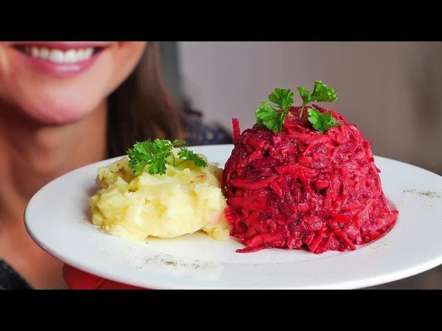 БЕСПОДОБНЫЙ Салат со Свеклой и Авокадо Соусом / Raw vegan salad with beetroot and avocado dressing