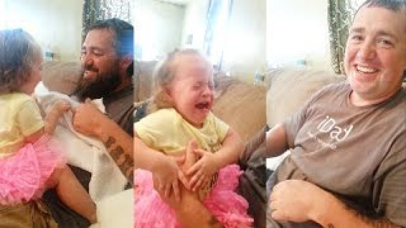 Baby Scared of Her Daddy Shaves Beard