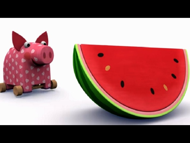 Деревяшки - Арбуз - Серия 5 - Новые развивающие мультфильмы для самых маленьких
