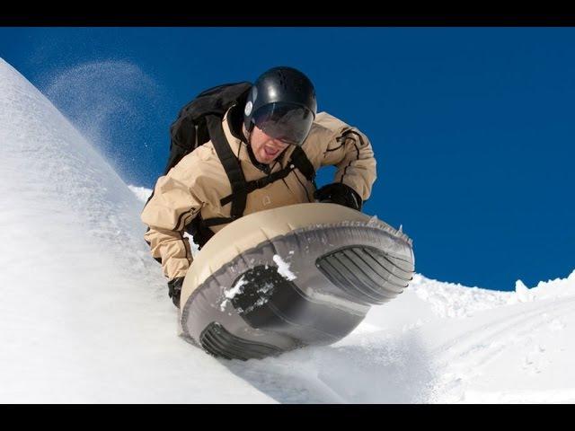 ТурбоСанки - зимние надувные сани для скоростных спусков с гор. Фрирайд
