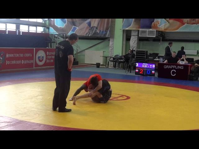 ЧР по Грепплингу UWW 2015 66 кг 1 8 финала Виноградов Юра Магомедов Руслан 2