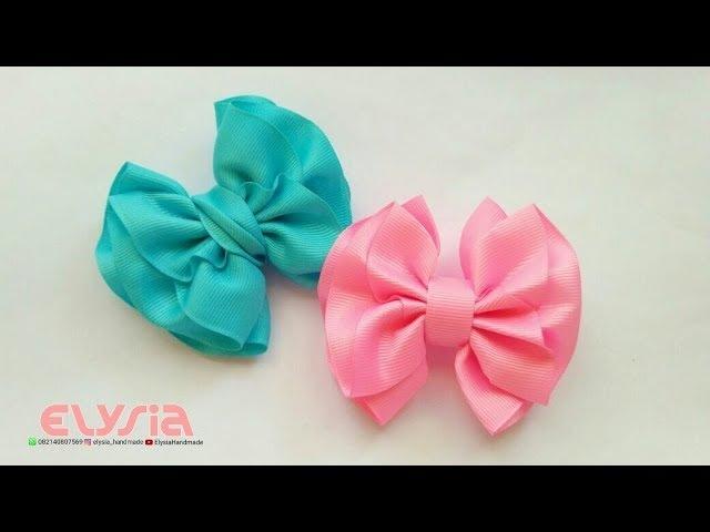 Ruffle Ribbon Bow DIY by Elysia Handmade