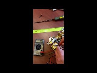 Проверка электромагнитного клапана газовой колонки при помощи мультиметра ( те ...