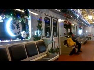 Новогодний поезд Еж3 на Алма Атинской