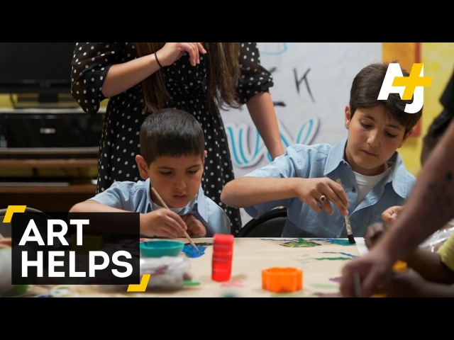 Syrian Refugees Learn English Through Art