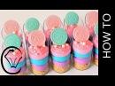 Mini Rainbow Cheesecake Dessert Cups by Cupcake Savvy's Kitchen