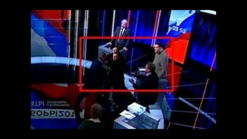 Скандал Заключительные дебаты закончились потасовкой Грудинин СБЕЖАЛ из студии